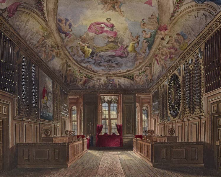 History of the Royal Residences Vol. 1 - Queen's Guard Chamber, Windsor Castle (1819)