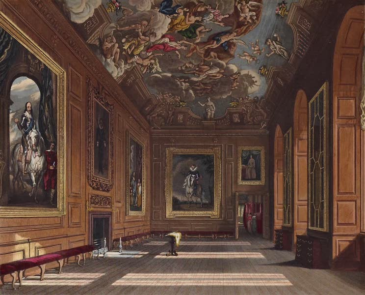 History of the Royal Residences Vol. 1 - The Queen's Presence Chamber, Windsor Castle (1819)