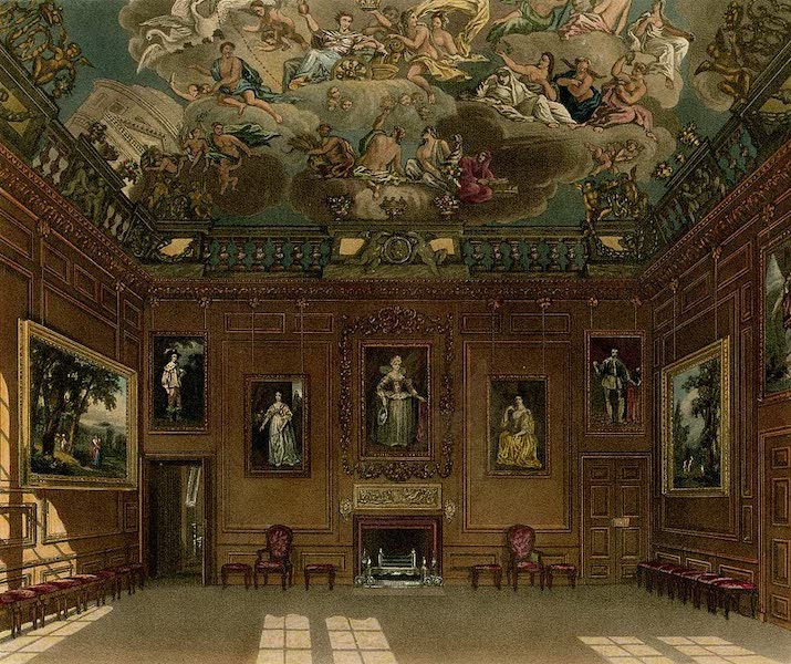 History of the Royal Residences Vol. 1 - Queen's Audience Chamber, Windsor Castle (1819)