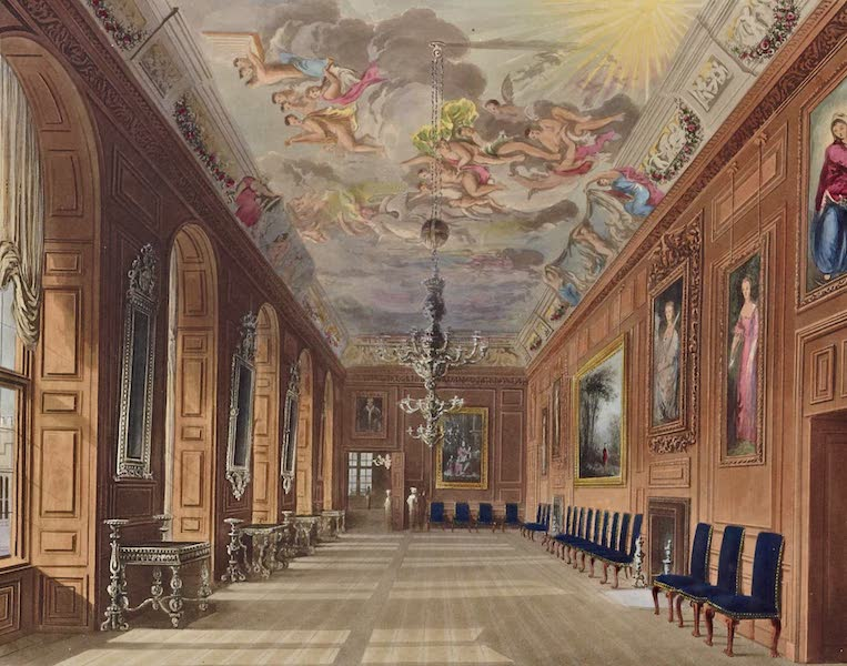 History of the Royal Residences Vol. 1 - Ball Room, Windsor Castle (1819)