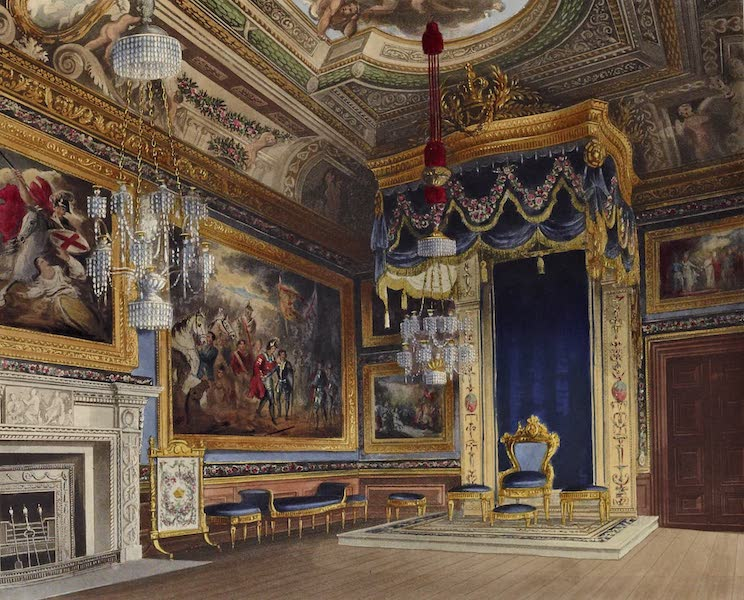 History of the Royal Residences Vol. 1 - The King's Audience Chamber, Windsor Castle (1819)