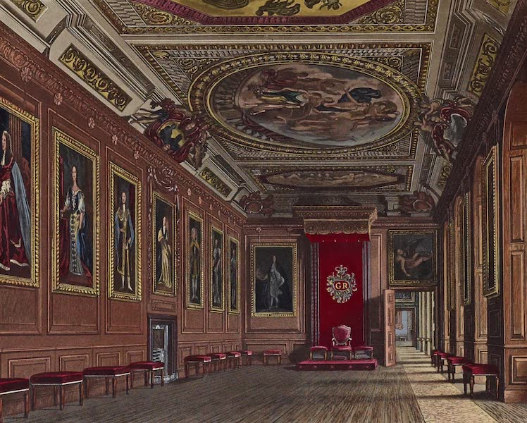 History of the Royal Residences Vol. 1 - King's Presence Chamber, Windsor Castle (1819)