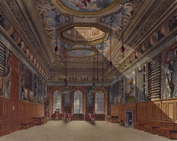History of the Royal Residences Vol. 1 - King's Guard Chamber, Windsor Castle (1819)