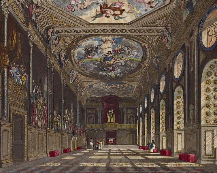 History of the Royal Residences Vol. 1 - St. Georges Hall, Windsor Castle (1819)