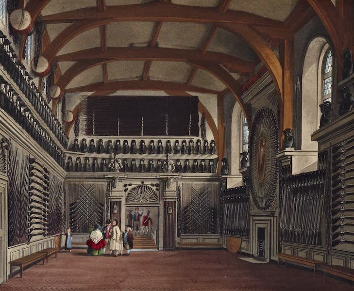 History of the Royal Residences Vol. 1 - Old Guard Chamber (Round Tower) Windsor Castle (1819)
