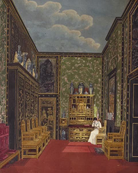 History of the Royal Residences Vol. 1 - Green Closet, Frogmore (1819)