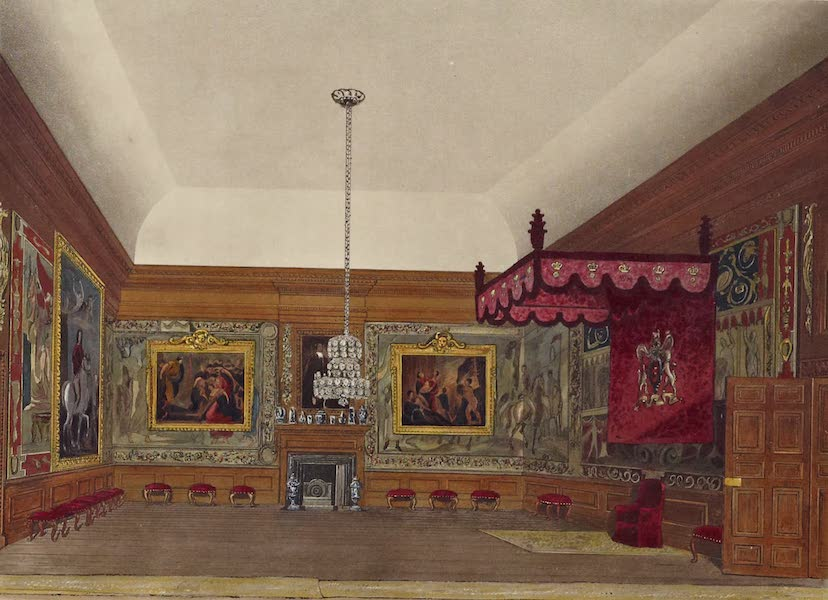 History of the Royal Residences Vol. 2 - The Throne Room, Hampton Court (1819)