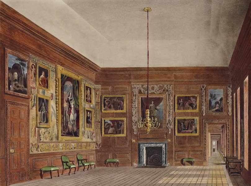 History of the Royal Residences Vol. 2 - Second Presence Chamber, Hampton Court (1819)