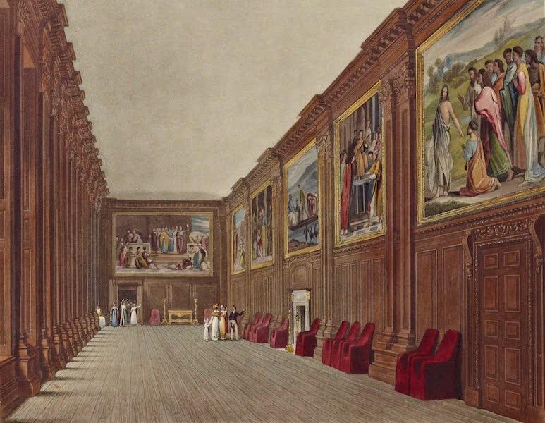 History of the Royal Residences Vol. 2 - Cartoon Gallery, Hampton Court (1819)