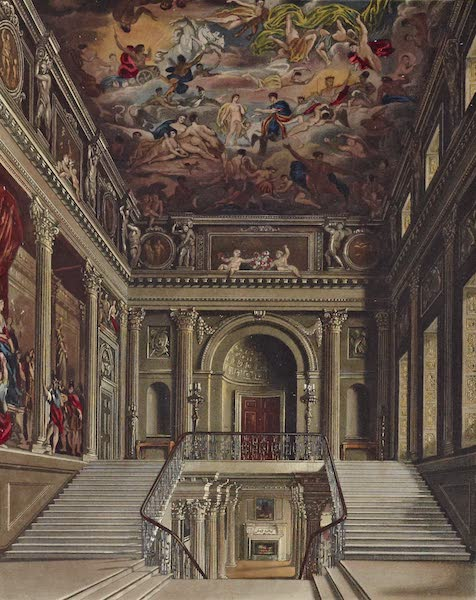 History of the Royal Residences Vol. 2 - Staircase, Buckingham House (1819)