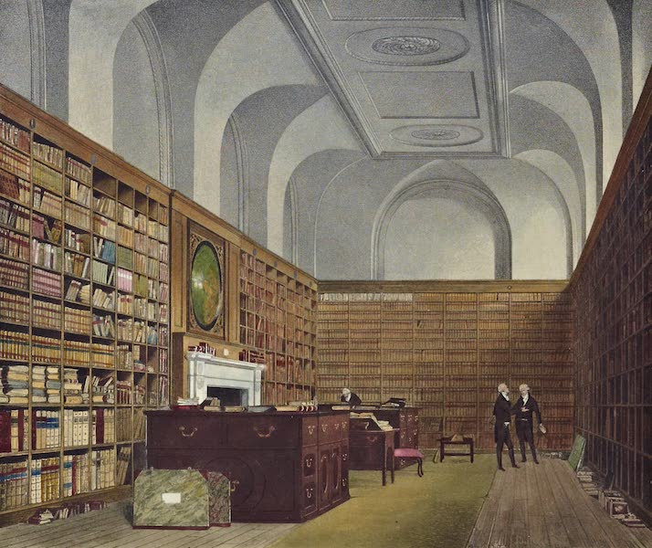 History of the Royal Residences Vol. 2 - The King's Library, Buckingham House (1819)