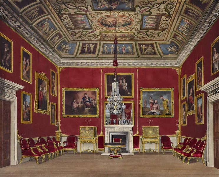 History of the Royal Residences Vol. 2 - Second Drawing Room, Buckingham House (1819)