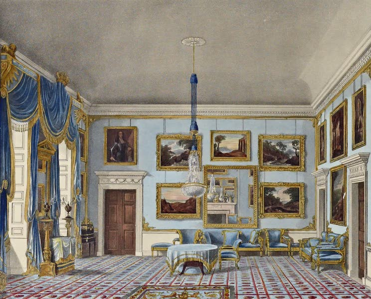 History of the Royal Residences Vol. 2 - The Blue Velvet Room, Buckingham House (1819)
