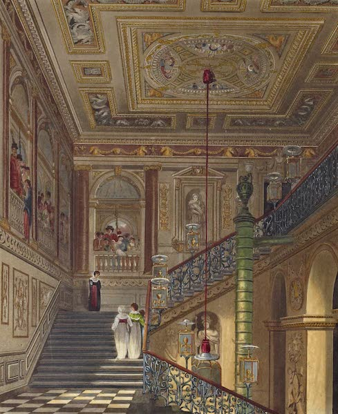 History of the Royal Residences Vol. 2 - The Great Staircase, Kensington Palace (1819)