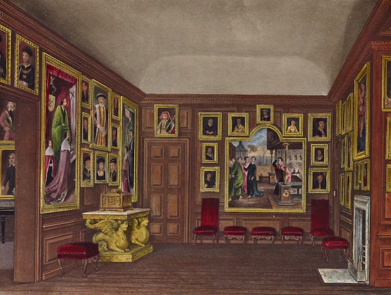 History of the Royal Residences Vol. 2 - Old Dining Room, Kensington Palace (1819)