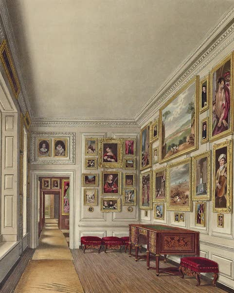 History of the Royal Residences Vol. 2 - The Queen's Closet, Kensington Palace (1819)