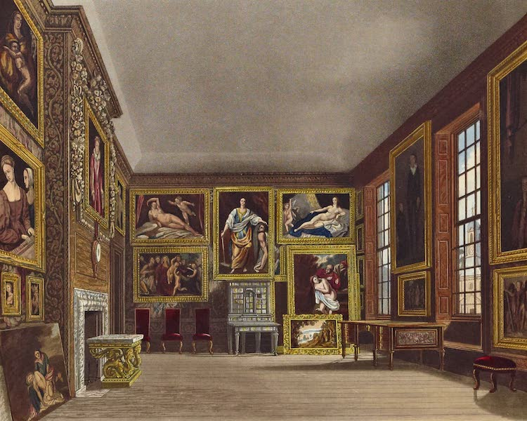 History of the Royal Residences Vol. 2 - The Queen's Bed Chamber, Kensington Palace (1819)