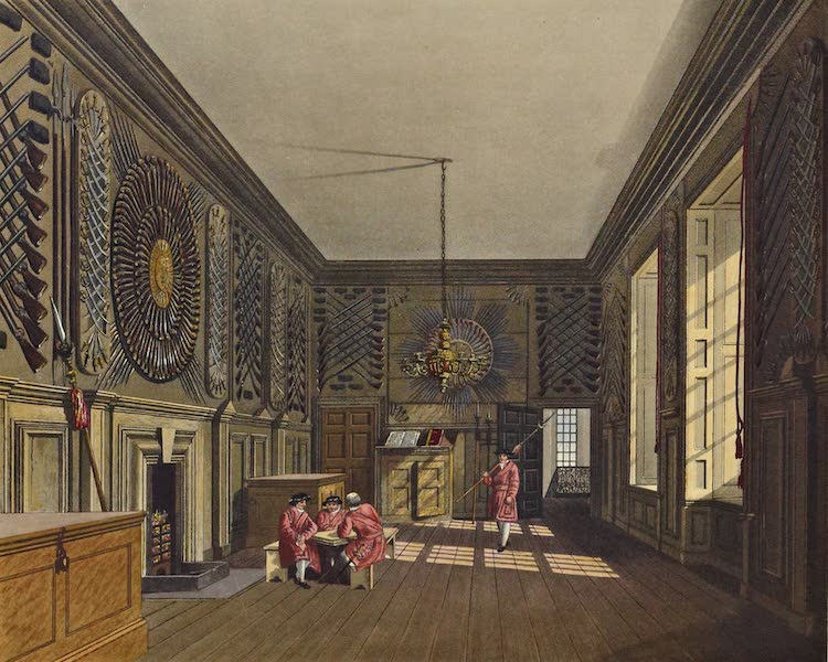 History of the Royal Residences Vol. 3 - Guard Chamber, St James's (1819)