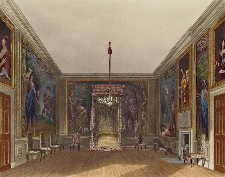 History of the Royal Residences Vol. 3 - Old Bed Chamber, St James's In which was born the son of James II (1819)