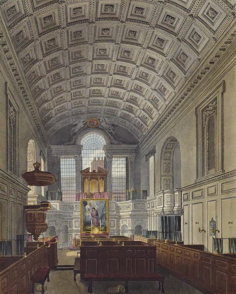 History of the Royal Residences Vol. 3 - The German Chapel, St James's Palace (1819)