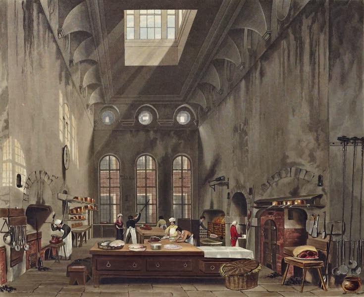 History of the Royal Residences Vol. 3 - Kitchen, St James's Palace (1819)