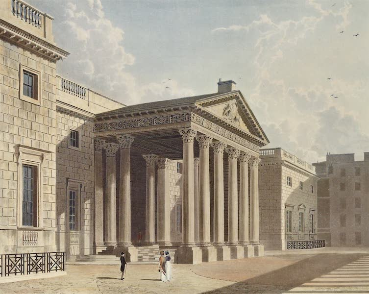 History of the Royal Residences Vol. 3 - Carlton House, North Front (1819)