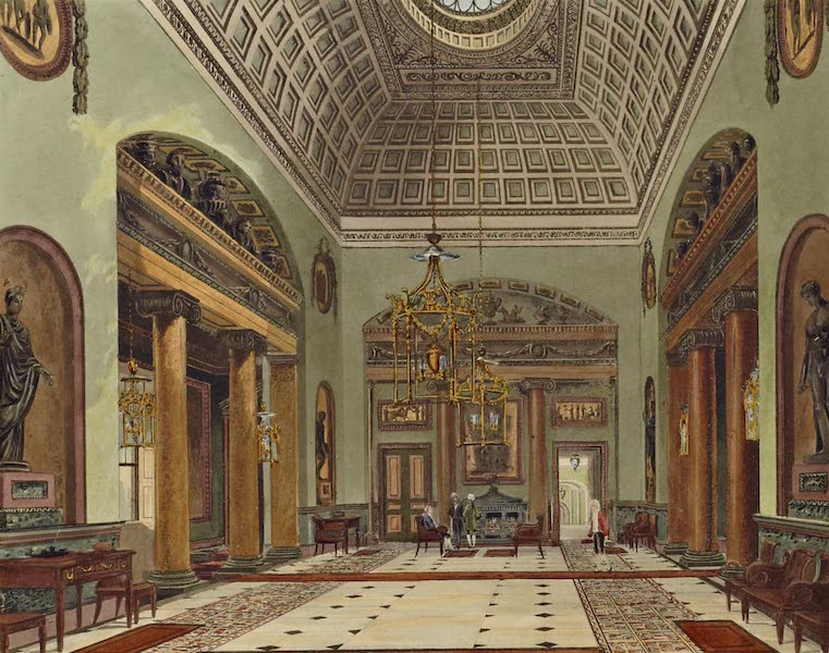 History of the Royal Residences Vol. 3 - The Hall of Entrance, Carlton House (1819)