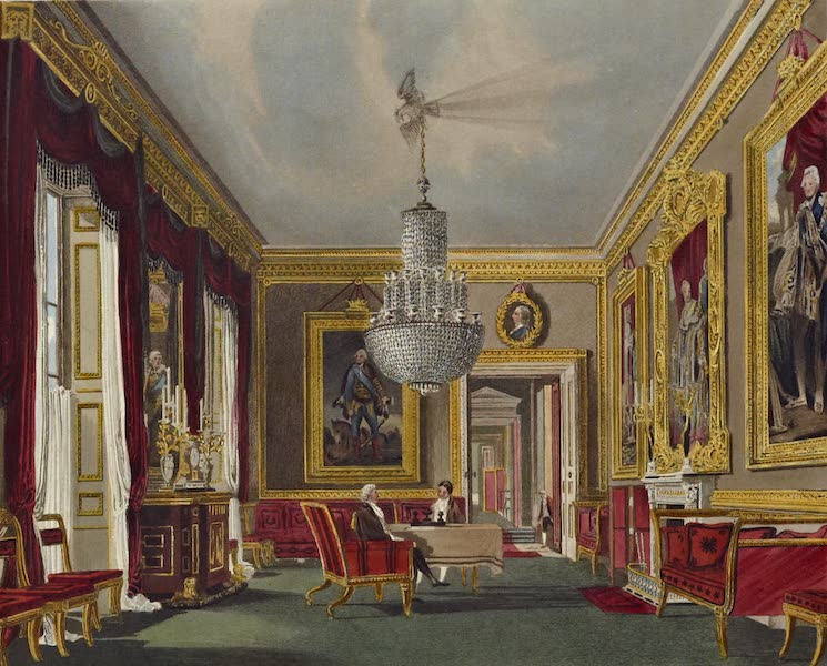 History of the Royal Residences Vol. 3 - The West Ante Room, Carlton House (1819)