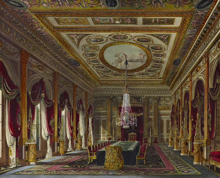 History of the Royal Residences Vol. 3 - The Throne Room, Carlton House (1819)