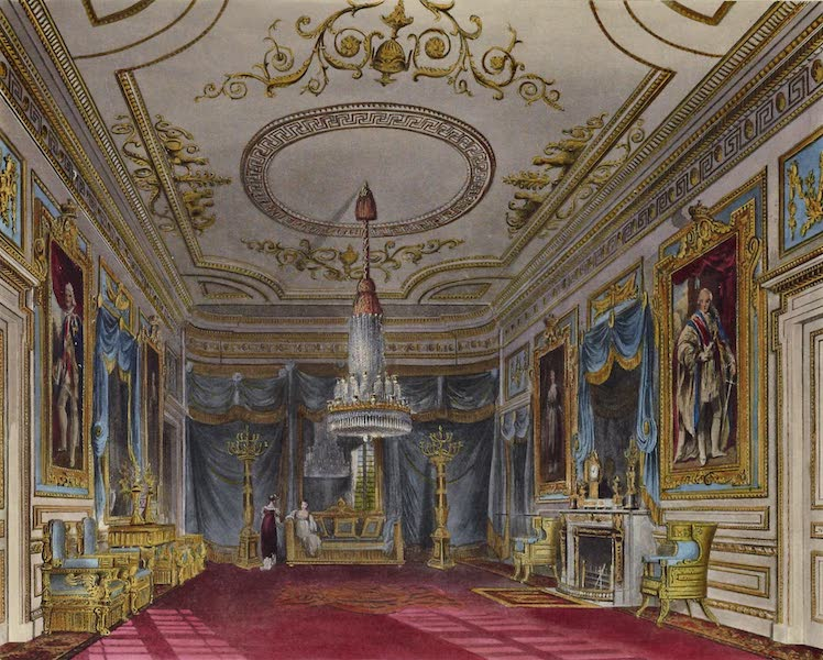 History of the Royal Residences Vol. 3 - Ante Chamber looking to the Throne Room, Carlton House (1819)