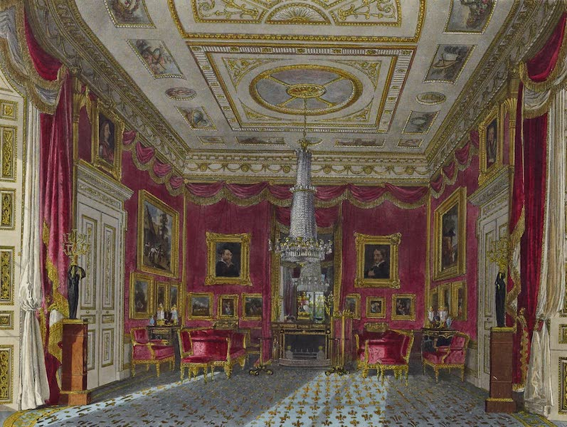 History of the Royal Residences Vol. 3 - The Rose Satin Drawing Room, Carlton House (1819)