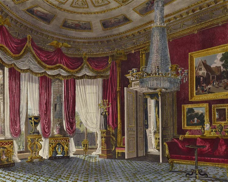 History of the Royal Residences Vol. 3 - Rose Satin Drawing Room (Second View), Carlton House (1819)