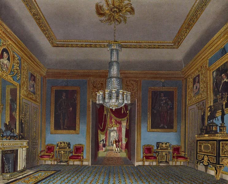 History of the Royal Residences Vol. 3 - Ante Room (Looking North) Carlton House (1819)