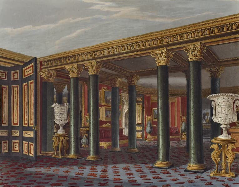 History of the Royal Residences Vol. 3 - The Lower Vestibule, Carlton House (1819)