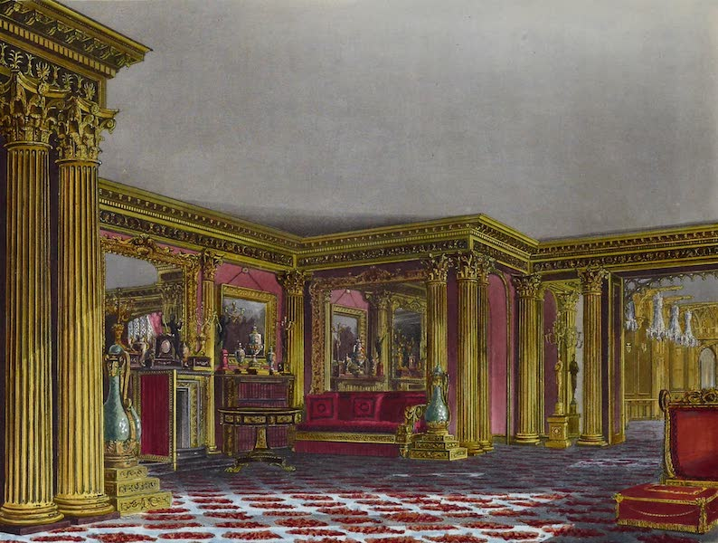 History of the Royal Residences Vol. 3 - The Golden Drawing Room, Carlton House (1819)