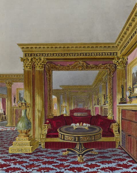 History of the Royal Residences Vol. 3 - The Alcove, Golden Drawing Room, Carlton House (1819)