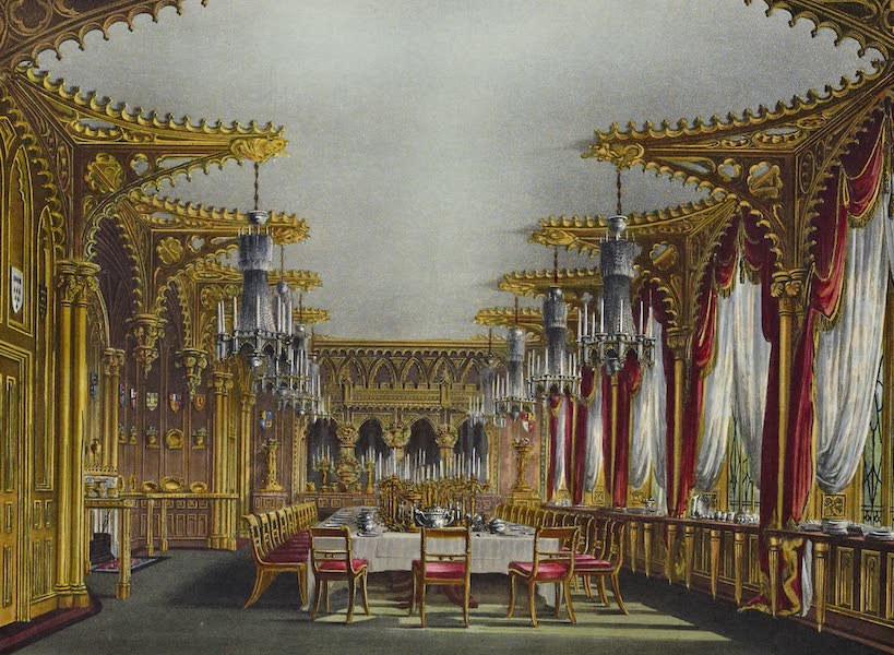 History of the Royal Residences Vol. 3 - Gothic Drawing Room, Carlton House (1819)