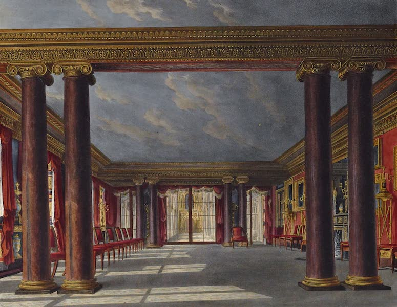 History of the Royal Residences Vol. 3 - Dining Room, Carlton House (1819)
