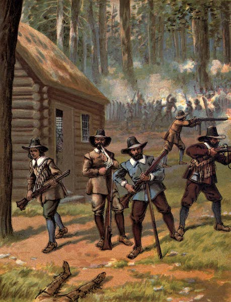 The History of the United States - The Pilgrims Fighting the Indians (1884)