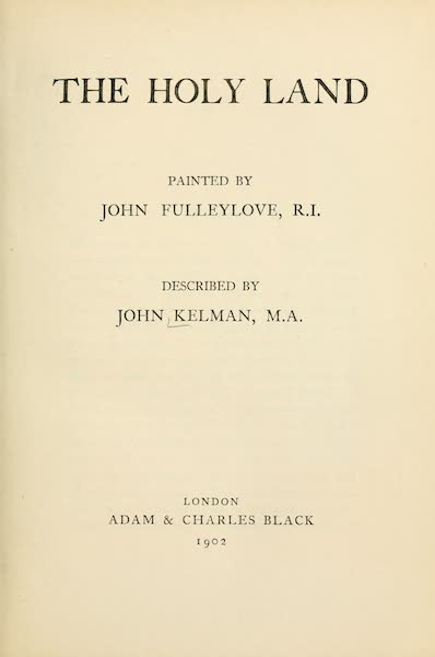The Holy Land, Painted and Described - Title Page (1902)