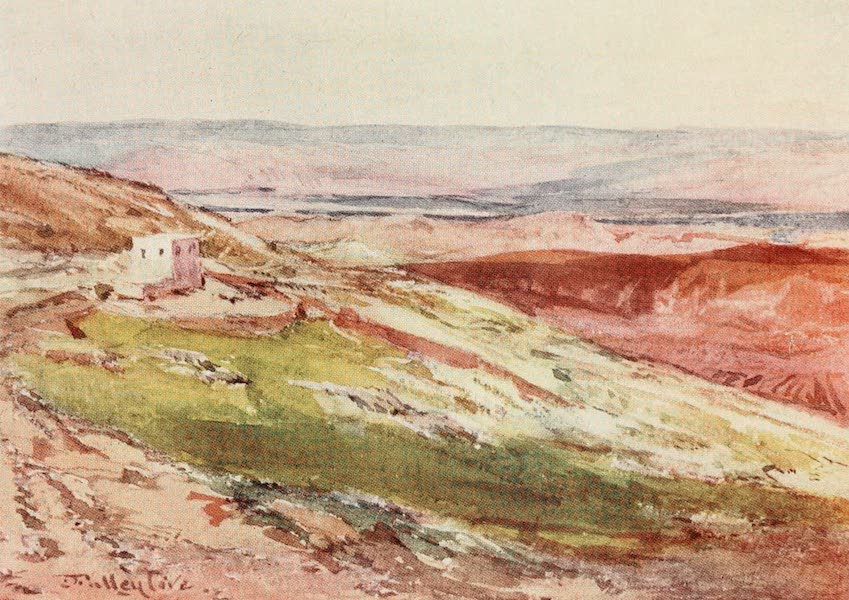 The Holy Land, Painted and Described - The Valley of the Jordan, from the Mount of Olives (1902)