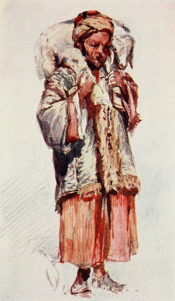 The Holy Land, Painted and Described - Syrian Shepherd (Abu Mustapha) carrying a Lamb on his Shoulder (1902)
