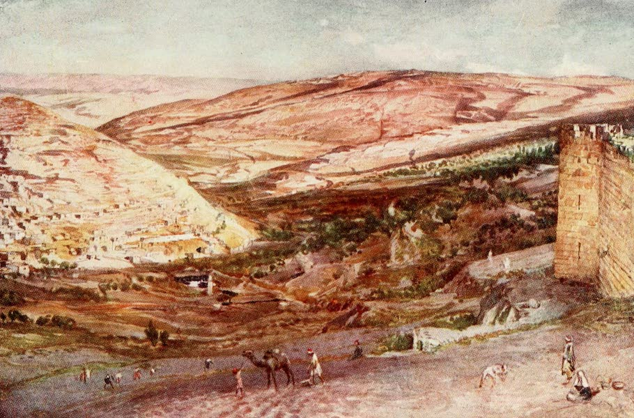 The Holy Land, Painted and Described - The Meeting of the Valleys of Hinnomand Jehoshaphat, seen from the Eastern Point of the Walls of Zion (1902)