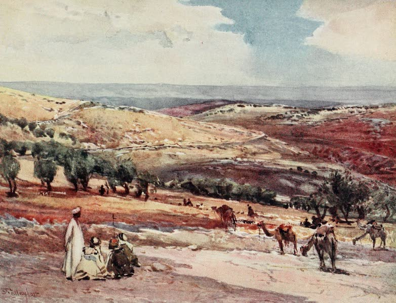 The Holy Land, Painted and Described - On the Road from Jerusalem to Bethany (1902)