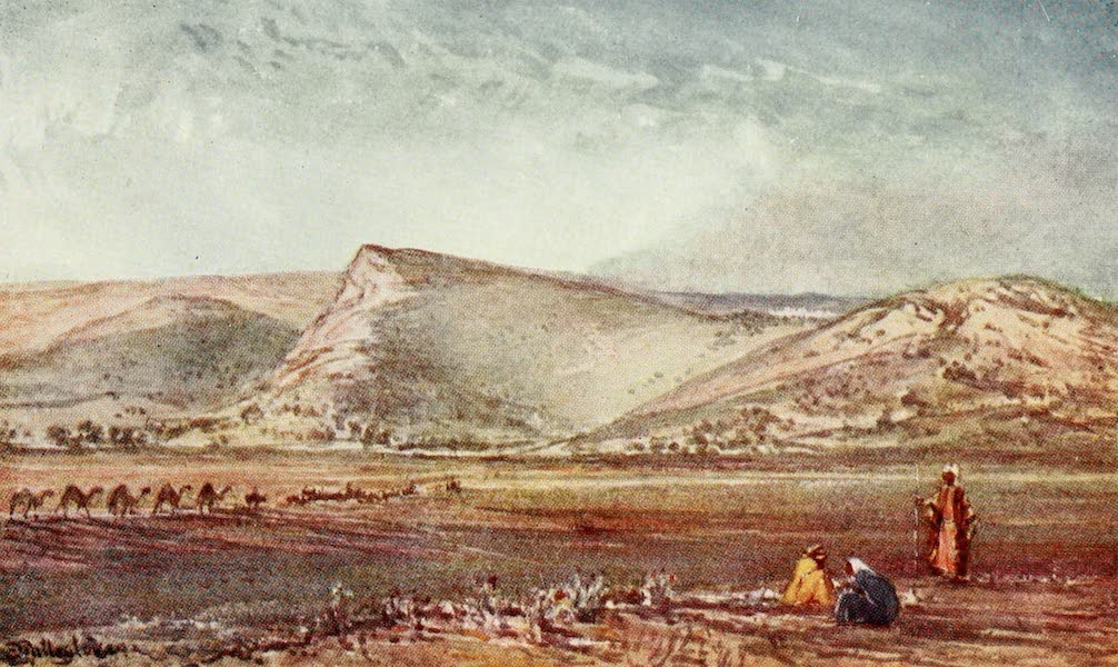 The Holy Land, Painted and Described - The Hills round Nazareth, from the Plain of Esdraelon (1902)