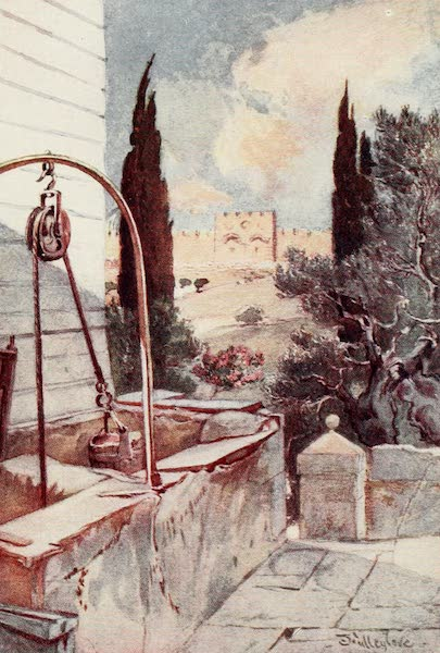 The Holy Land, Painted and Described - The Golden Gate, from the Garden of Gethsemane (1902)