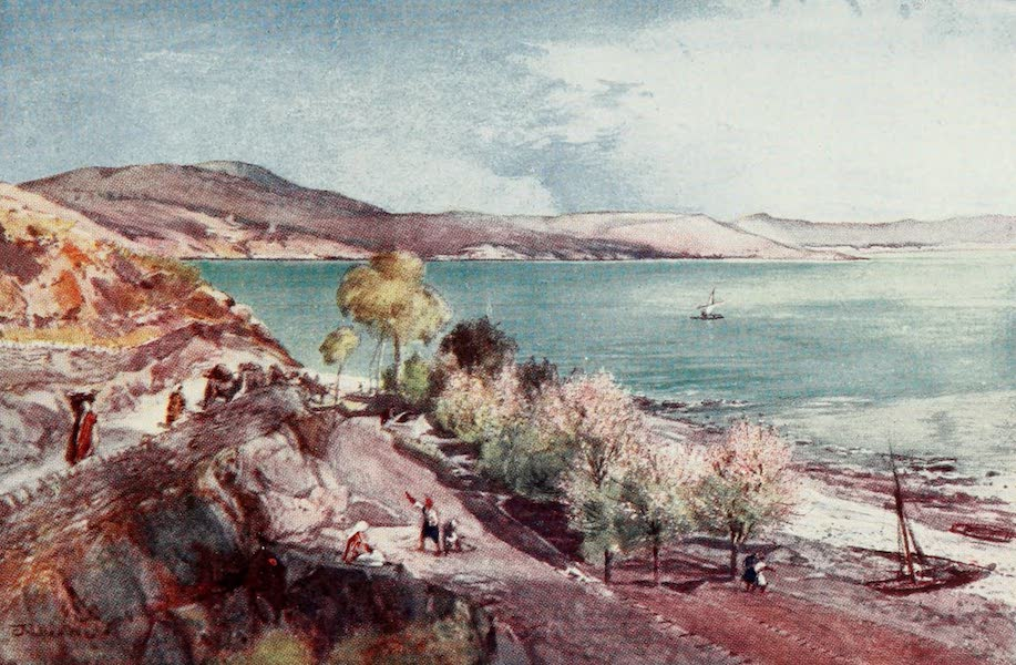 The Holy Land, Painted and Described - The Lake of Galilee, looking North from Tiberias (1902)