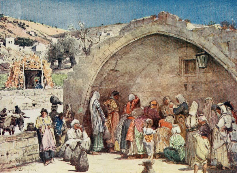 The Holy Land, Painted and Described - The Fountain of the Virgin at Nazareth (1902)