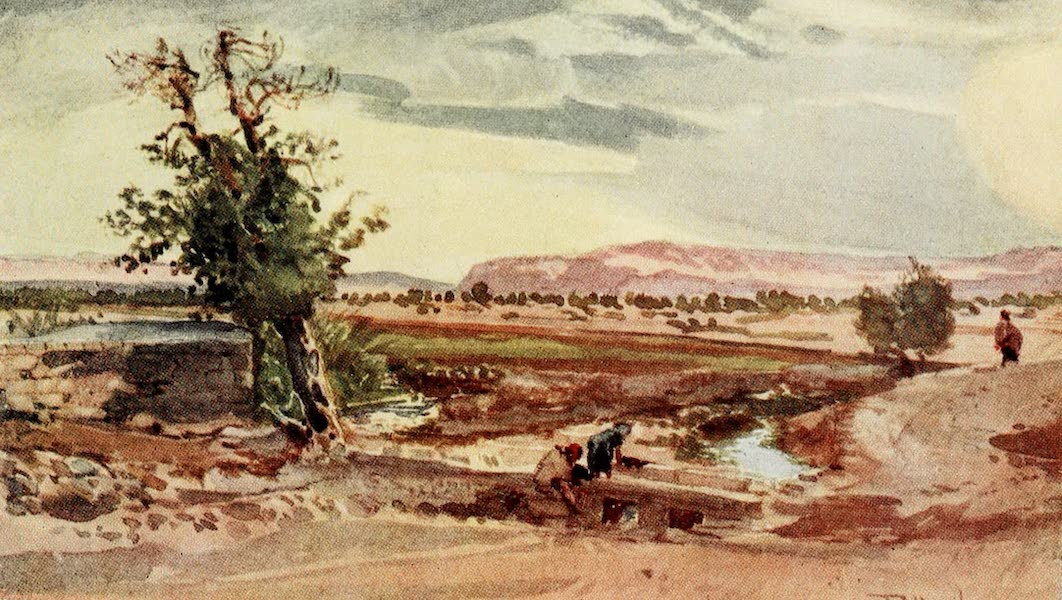 The Holy Land, Painted and Described - The Stream flowing from the Spring of Elisha (1902)