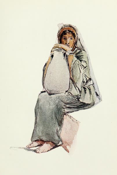 The Holy Land, Painted and Described - Water - Carrier, seated figure - Jerusalem (1902)